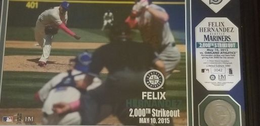 Felix Hernandez Commemorative Photo Mariners Baseball for Sale in Renton,  WA