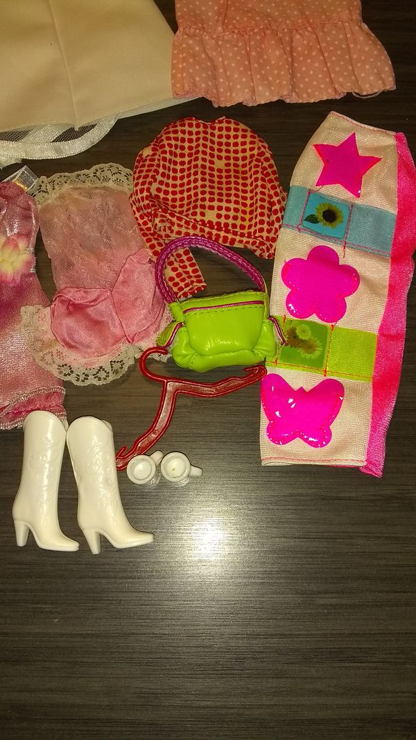 Lot of Barbie / Clone Doll Dresses & Clothes - Vintage and Used