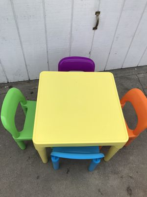 CHILDREN TABLE AND CHAIR for Sale in West Carson, CA