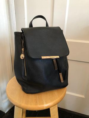 Black leather backpack - new for Sale in Beverly, MA