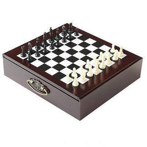 WOOD GAME SET WITH WOODEN TRAY AS SEEN ON TV IN 1 CARRY ALONG for Sale in North Arlington, NJ