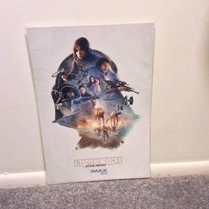 Star Wars Rogue One Movie Print/AMC IMAX /High Quality/New/In Print Protector for Sale in Virginia Beach, VA
