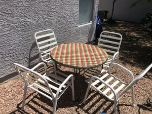Patio / Picnic set - Table s four chairs for Sale in Las Vegas, NV