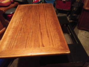 Oak lift coffee table with 2 seats for Sale in Portland, OR