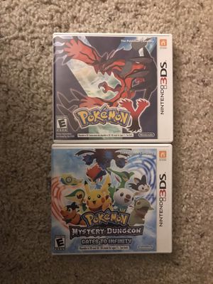 Pokemon Y and Pokemon Mystery Dungeon: Gates to Infinity for Nintendo 3DS for Sale in Bellevue, WA