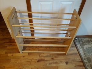 VERY NICE STRONG WOOD SHOES RACK FOR SALE for Sale in Bellevue, WA