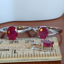 CHOOSE ONE -(MESSAGE ME BEFORE PURCHASING) niassa ruby ring OR Necklace * Shipping Only for Sale in Fort Lauderdale,  FL
