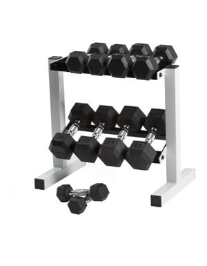 RACK ONLY CAP Rubber Hex Dumbbell Rack, Weights are not included (L x W x H) 27.17 x 18.11 x 3.94 Inches for Sale in Austin, TX