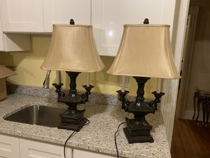 Gorgeous pair of lamps for Sale in Providence, RI