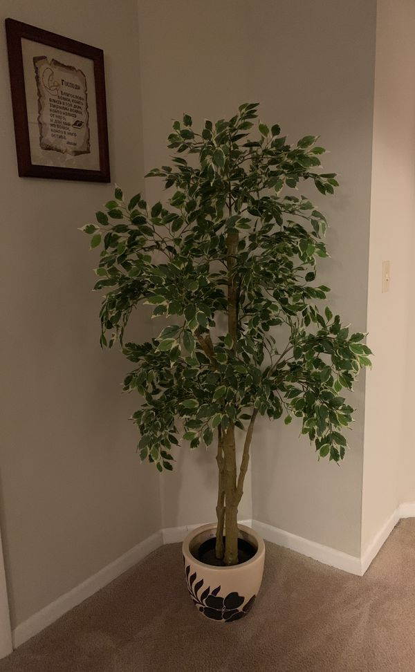 IKEA artificial plant and pot
