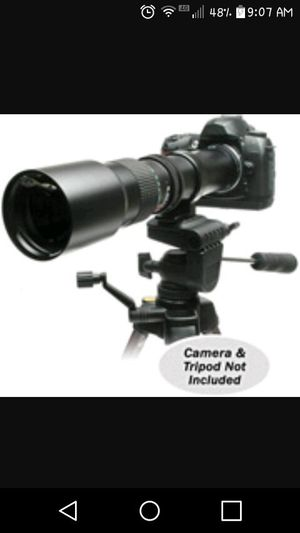 Samyang SLR interchangeable lenses 500mm F8.0..(attachment only..camera not included) for Sale in Imperial, MO