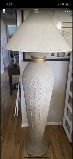 Ceramic floor lamp and table lamp. for Sale in Tacoma, WA