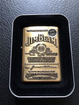 Vintage brass Jim beam zippo for Sale in Clinton Township, MI