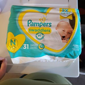 2, 31pack Pampers Saddlers Size NewBorn for Sale in Villa Park, CA