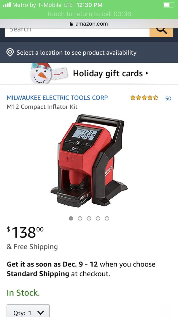 Compact Inflator New!!!!