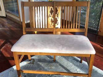 Wood And Fabric Loveseat for Sale in Boxford,  MA