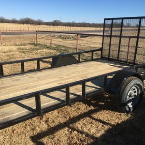 NEW Shop Built 6 x 12 Single Axle Utility Trailer With Ramp . READ AD Please . $1350 CASH Firm . Meet For Pickup Only for Sale in Fort Worth, TX