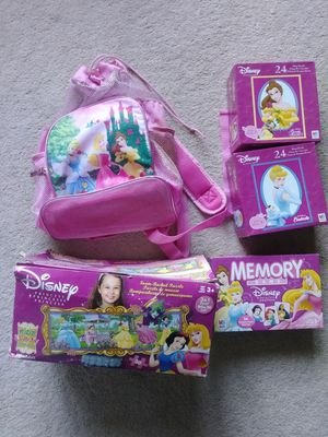 Disney princess puzzles beach backpack for Sale in Los Angeles, CA