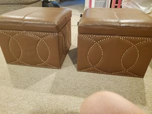 2 storage space ottomans for Sale in ENGLEWD CLFS, NJ
