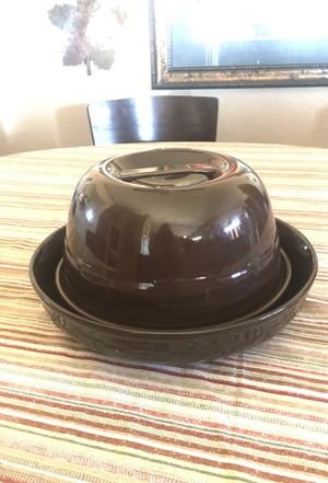 Pottery Longaberger 3 piece Woven Traditions Dark Brown for Sale in Henderson, NV