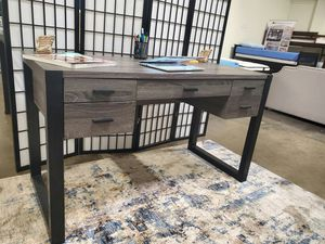 Office Computer Desk, Distressed Grey and Black, SKU 171967 for Sale in Santa Ana, CA