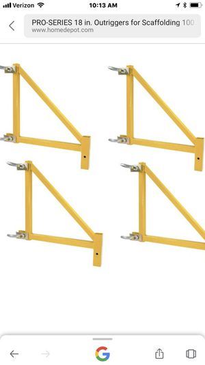 4 scaffold outriggers 2 (sets) for Sale in Annandale, VA
