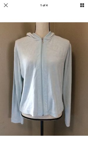 Nike Baby Blue Terry Cloth Soft Cotton Zip Up Athletic Hoodie Jacket L 12-14 for Sale in Portland, OR