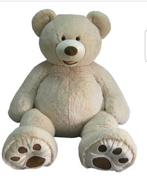 HUGE IVORY BEAR PLUSH 53 INCHES TALL W TAGS for Sale in Norwalk, CA