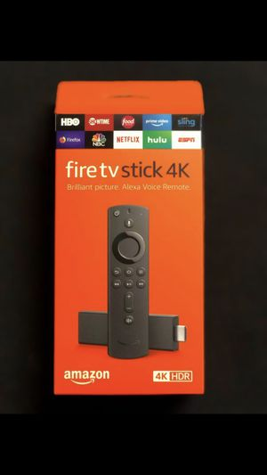 $60 Fire TV Stick 4K with Alexa Voice Remote, streaming media player for Sale in Philadelphia, PA