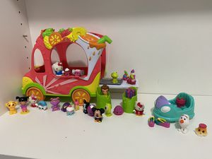 Shopkins Juice Truck plus Arcade play set including Disney and Hello Kitty figures for Sale in FL, US