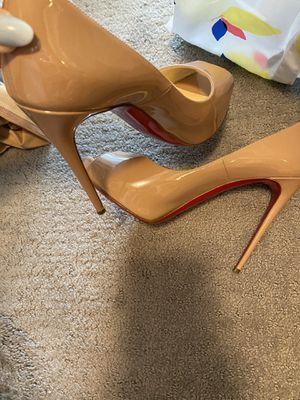 Christian loubotins heel size 7.5 worn twice for Sale in Brush Prairie, WA