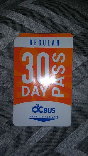 OCTA 30 Day Bus Pass for Sale in Santa Ana, CA