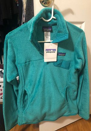 Patagonia Women's Re-Tool Snap-T Fleece Pullover size S - Teal for Sale in Cary, NC