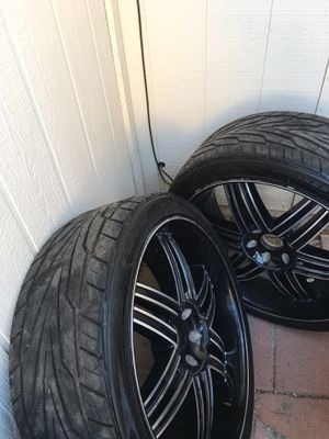 """24"""" rims tire 285/35/24 6 lugs OBO. for Sale in Guadalupe, AZ"""