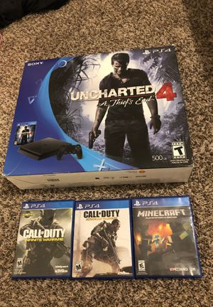 Ps4 Slim with 4 Games for Sale in White Settlement, TX