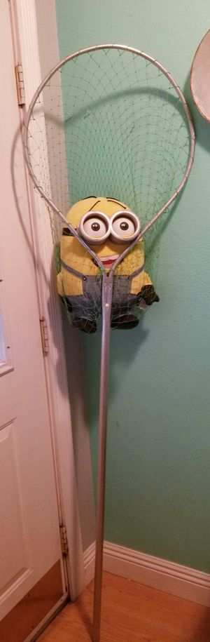 Fishing Net Pole..6 ft tall Large Size..great condition! for Sale in Modesto, CA