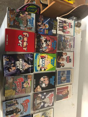 Family guy American dad the office Big Bang dvds for Sale in McKinney, TX