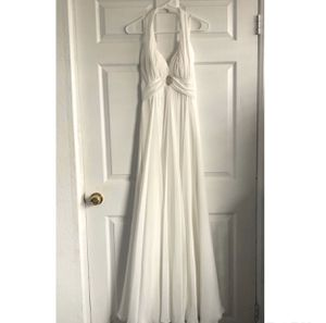 Off White Long Gown Prom Wedding Party Dress 0 for Sale in Palmdale, CA