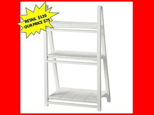 Casual Home Nolan White Folding 3- Shelf Ladder Bookcase BRAND NEW for Sale in Plantation, FL