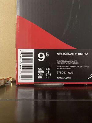 Jordan 11 Retro Gym Red Size 9.5 for Sale in Washington, PA
