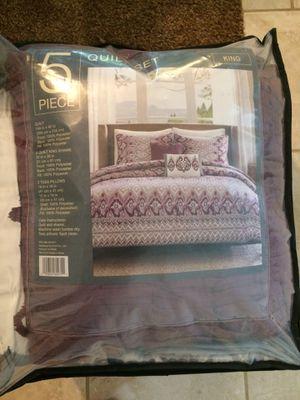 5-piece king comforter set for Sale in Decatur, GA