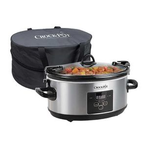 Crock-Pot 7-quart Cook & Carry Digital Countdown Slow Cooker, Stainless Steel Retail $49.99 for Sale in Alhambra, CA