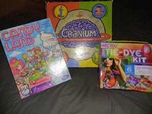 Kids board games and tie dye set for Sale in Phoenix, AZ