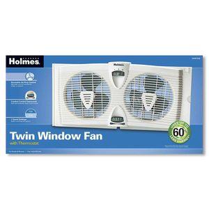 Holmes Twin Window Fan With Thermostat for Sale in Phoenix, AZ