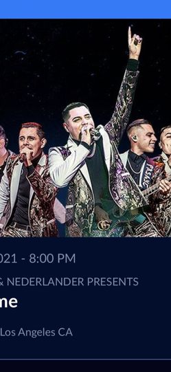 Grupo Firme Concert On Aug 7th At The Staples Center for Sale in Garden Grove,  CA