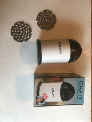 GRATY GOURMET CHEESE GRATER for Sale in Stroudsburg, PA