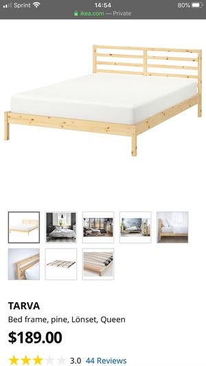 Queen Bed Frame TARVA Pine for Sale in Austin, TX