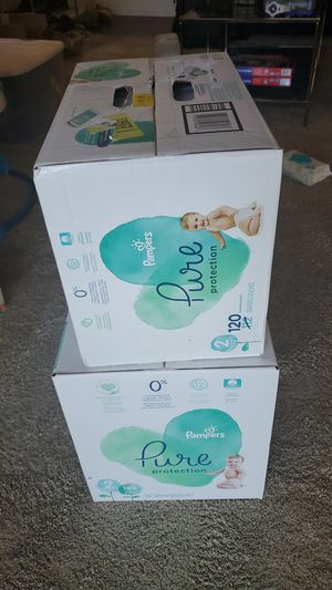 (306 ct.) 2 Boxes, Pampers Pure Protection Diapers, Month & A Half Supply! Size 2 for Sale in Laurel, MD