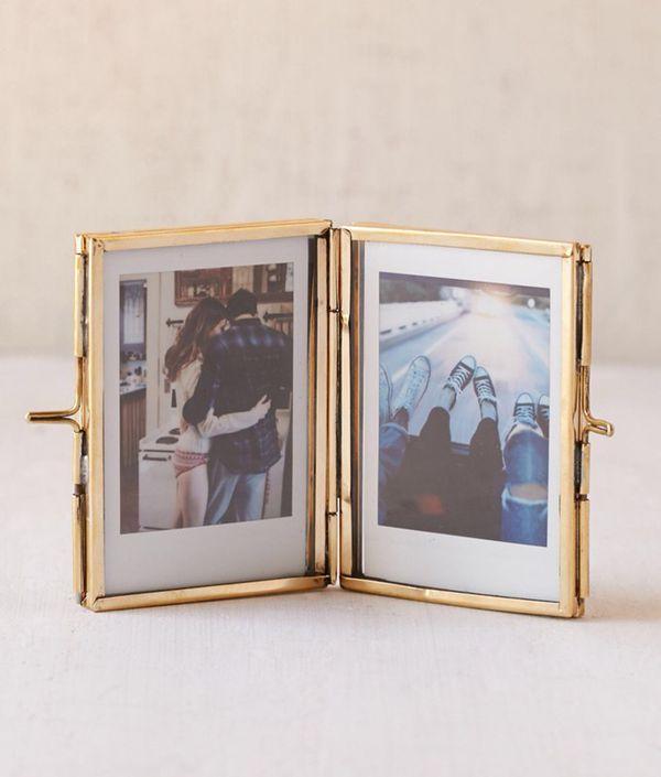 Glass display frame photo