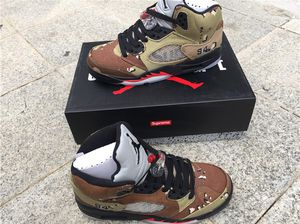 Jordan 5 Retro Supreme Desert Camo (Size US men's 9.5) for Sale in Philadelphia, PA